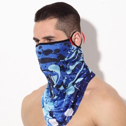 3D scarf - neck / face cover - face mask - on-ear loops - windproof - breathable