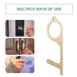 No-touching door opener - contactless press buttons - anti bacteria - metal keyring