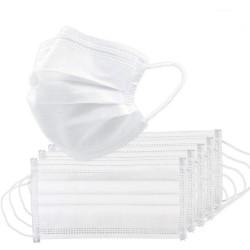 Masque médical bouche / visage - jetable - antibactérien - blanc