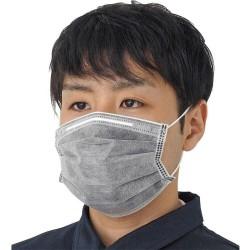 Filtro nano de carbón activado - mascarilla facial / boca de 4 capas - antibacteriano - gris