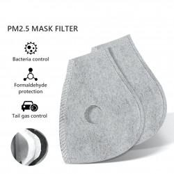 PM25 - filtr z węglem aktywnym do maski na usta / twarz z podwójnym zaworem powietrznym - 10 sztuk