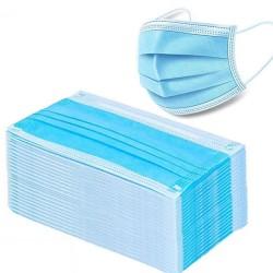 Wegwerp gezichtsmaskers / mondmaskers - 3 lagen - antistof - antibacterieel
