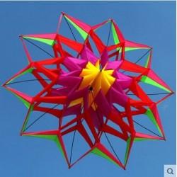 3D Blumenform Drachen mit Griff und Schnur - 150 cm Durchmesser