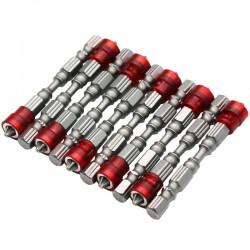 65mm PH2 Magnetische bits Hex schacht schroevendraaier - 10 stuks