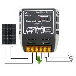 20A 12V/24V Solar Paneel Laadregelaar |