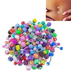 30 pieces - belly bars - body piercing