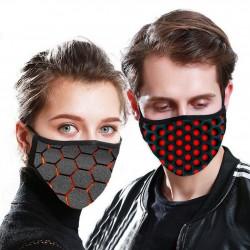 PM2.5 - Mascarilla facial / antipolvo de 5 capas con patrón 3D