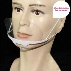 10 pezzi - maschera per la bocca trasparente - anticondensa e saliva - scudo per la bocca in plastica - lettura delle labbra