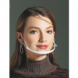 10 pièces - masque buccal transparent - anti condensation et salive - masque buccal en plastique - lecture des lèvres