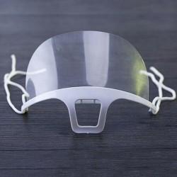 10 sztuk - przezroczysta maska na usta - przeciwmgielna - przeciw ślinie - plastikowa osłona ust - czytanie z ust