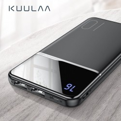 10000mAh Tragbare Power Bank - Dual USB - externes Ladegerät - LCD-Display