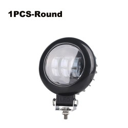 Lente 6D - 5 pulgadas - 30W 12V - Barra de luces LED - reflector para camionetas 4x4 ATV SUV - luz de foco / niebla - halo