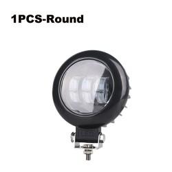 Lentille 6D - 5 pouces - 30W 12V - barre lumineuse LED - réflecteur pour camions 4x4 ATV SUV - spot / antibrouillard - halo