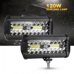 4/7 cali - 54 W - 120 W - listwa świetlna LED do ciągnika terenowego / ciężarówki 4x4 SUV Jeep ATV - światła