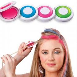 Kolorowy kredowy proszek - tymczasowa farba do włosów