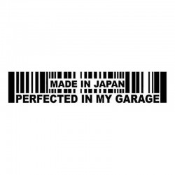 15.2 * 3cm - Made In Japan Perfected In My Garage - samochodowa naklejka