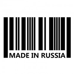16 * 10cm - Made In Japan / Made In Russia - car sticker - decal