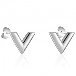 Kolczyki sztyftowe w kształcie litery V - stal nierdzewna