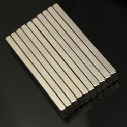 N50 - neodymium magnet - strong block - cuboid 60 * 10 * 4mm 5 pieces