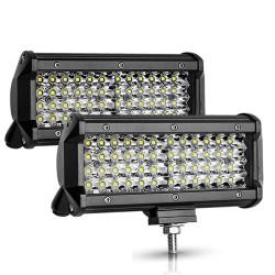 12V / 24V - 72W / 144W - Led-bar - reflektor dla ciężarówek / łodzi terenowych / samochodów / ciągników 4x4 SUV ATV