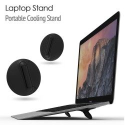 Soportes de soporte para Macbook / laptop - ajustable - negro - soporte de enfriamiento universal