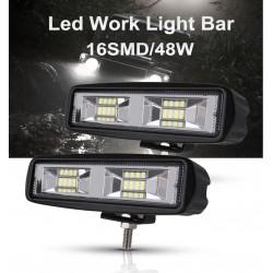 48W - samochodowe światła przeciwmgielne Led - reflektor punktowy do samochodów 4x4 - jeep - ATV - SUV - reflektor DRL