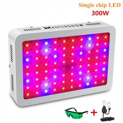 300W LED grow light - LED de un solo chip - panel con sistema de ventilación