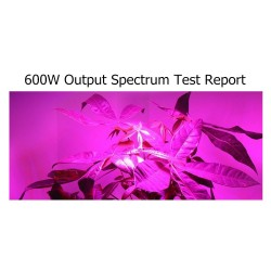 600W LED grow light - double chip LED - panel with ventilator system