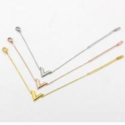 Stereoscopic V Charm Bracelet - Titanium Steel