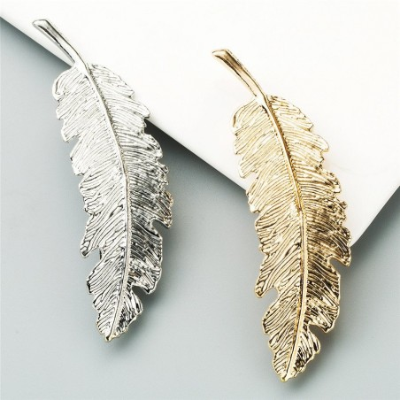 Vintage leaf - gold & silver hairpin - hair clip
