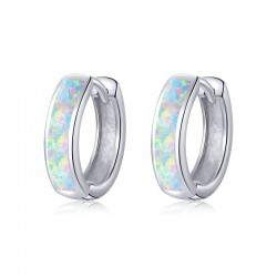 925 Sterling Silver Opal Earrings