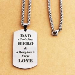 DAD'S HERO - collier en acier inoxydable - Fête des pères