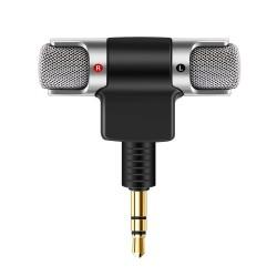 Przenośny mikrofon stereo do nagrywania - pozłacana wtyczka - mini jack 3,5 mm dla Smartphone