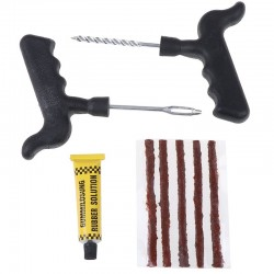 Tubeless car tire repair kit