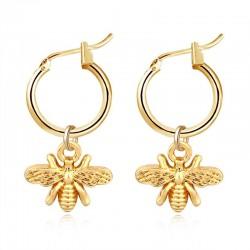 Mała pszczółka - złote kolczyki