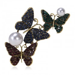 Triple Butterfly Brooches