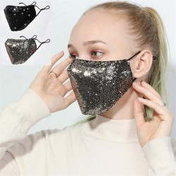 Anti-pollution - breathable - cotton face/mouth masks with sequins