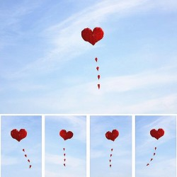 Herzförmiger Nylondrachen