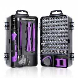 Screwdriver Set 115 to 112 - Purple/Red/Black