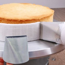Extra duża dysza do lukru ze stali nierdzewnej - tylka do dekorowania ciast kremowych