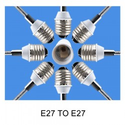 E27 to E27 fitting - luminaire extension - lighting adapter