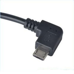 Micro USB 90° to USB (female) - OTG adapter - cable 10cm