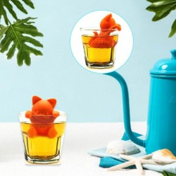 Silicone kitten shaped - tea infuser - reusable - 1pcs