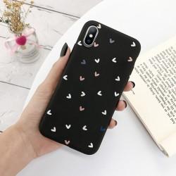 Funda de silicona para iPhone - carcasa trasera - corazones de amor
