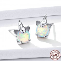 Unicorn stud earrings - 925 sterling silver