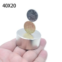 N52 Neodym-Zylindermagnet - starke Magnetscheibe - 40 * 20 * 20 mm