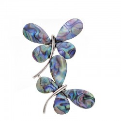Shell Double Butterfly Brooches