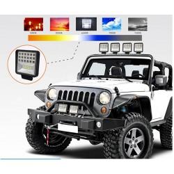 Barra LED - lampada spot per fuoristrada - trattori - SUV - camion - 72W - 126W / 12V - 24V