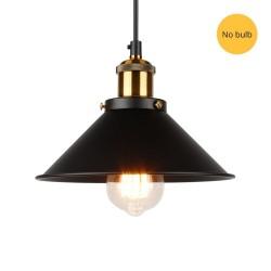 Kinkiet w stylu vintage - długa lampa wisząca - złoty - czarny