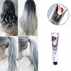 Permanent hair dye color cream - smokey silver grey - 100ml